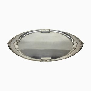 German Art Deco Oval Tray from WMF, 1930s