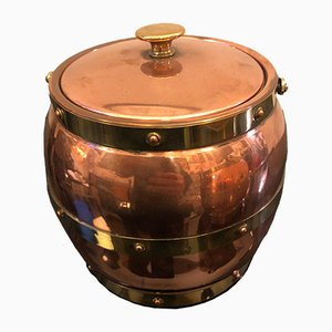 Brass & Copper Ice Buckets from Linton Metalware, 1924, Set of 2