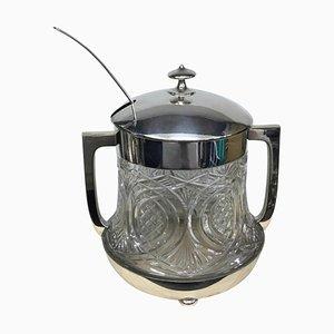 Cuenco de ponche Art Déco bañado en plata de WMF, años 30