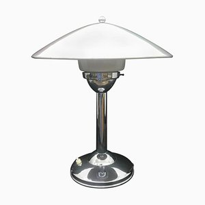 Art Deco Italian Steel Table Lamp, 1930s