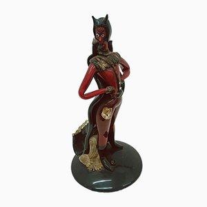 Sculpture de Diable Mid-Century en Verre de Murano de A.VE.M., 1960s