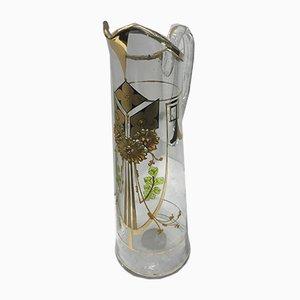 Jarra italiana modernista de vidrio, década de 1900