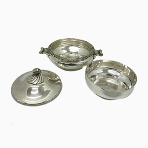Art Deco French Silver-Plated Entree Dish Set from Cailar Bayard, 1930s