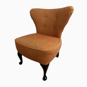 Mid-Century Cocktail Chair in Senfgelb, 1950er