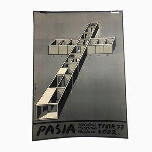 Poster cinematografico vintage di Franciszek Starowieyski, 1972