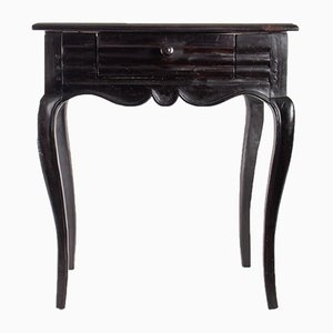 19th Century Louis XV Style Blackened Wood Side Table