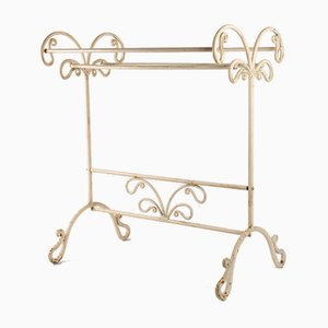 Antique Art Nouveau French Wrought Towel Rack