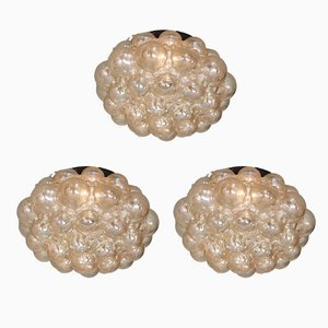 German Metal and Colored Glass Ceiling Lamps by Helena Tynell for Limburg, 1970s, Set of 3