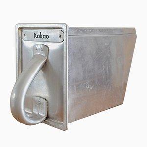 Bauhaus Kakaobehälter aus Aluminium von Margarete Schütte-Lihotzky für Haarer, 1926