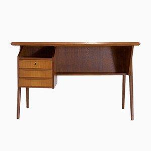 Scandinavian Modern Teak Desk by Gunnar Nielsen Tibergaard, 1960s
