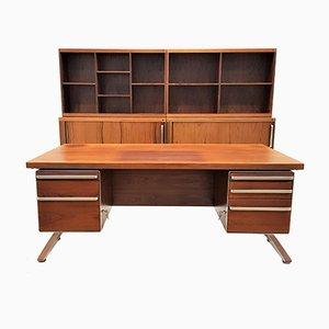 Large Danish Aluminum and Rosewood Office Furniture Set by Marius Byrialsen for Nipu, 1970s