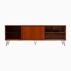 Mid-Century Metal and Teak Sideboard, 1960s