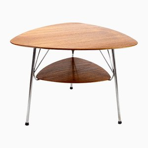 Model VL1312 Triangular Teak and Metal Side Table by Vermund Larsen for Vermund, 1959
