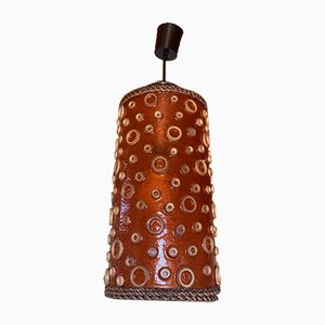 Lampada tubolare arancione, anni '70