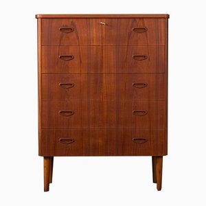 Mid-Century German Teak and Veneer Dresser, 1950s