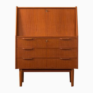Danish Teak and Veneer Secretaire by Gunnar Nielsen Tibergaard, 1960s