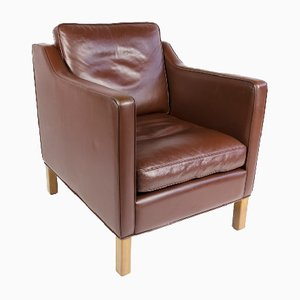 Mid-Century Danish Leather Lounge Chair