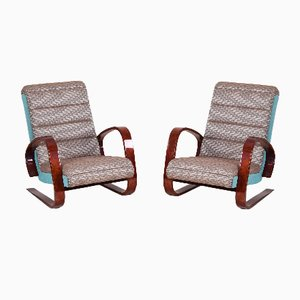 Art Deco Walnut Armchairs by Miroslav Navratil, 1950s, Set of 2