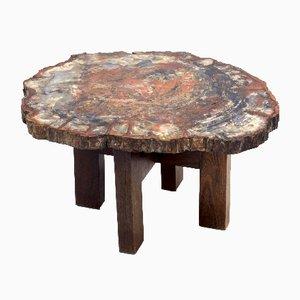Tavolino in metallo e legno di Ado Chale, anni '70