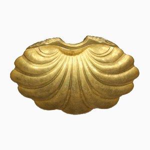Fuente dorada con forma de concha, años 20