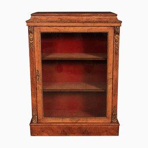 Antique Walnut Display Cabinet, 1880s