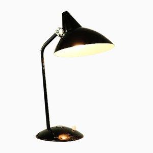 Deutsche Hexenhut Tischlampe aus Aluminium & Stahl von HELO Leuchten, 1950er