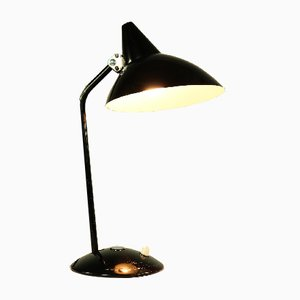 German Aluminum and Steel Witche's Hat Table Lamp from HELO Leuchten, 1950s