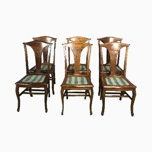 Vintage Esszimmerstühle aus Eichenholz, 6er Set