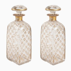 Antique Louis Philippe Glass Carafes, Set of 2