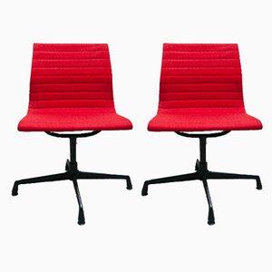 Sillas de escritorio industriales de Charles & Ray Eames para Herman Miller, años 80. Juego de 2