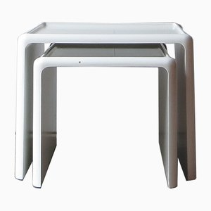 German Baydur Nesting Tables by Peter Ghyczy for Horn Collection, 1960s