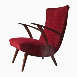 Mid-Century Teak Lounge Chair, 1950s