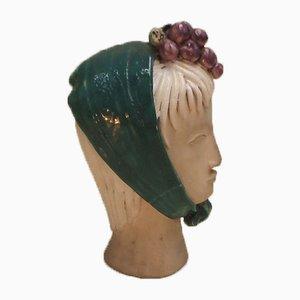 Französische Keramikskulptur von Gueden Colette für Gueden Colette, 1950er
