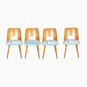 No.515 Beech Dining Chairs by Oswald Haerdtl for Tatra Nabytok, 1960s, Set of 4