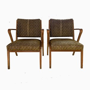 Armchairs by Selman Selmanagic for VEB Deutsche Werkstätten Hellerau, 1950s, Set of 2