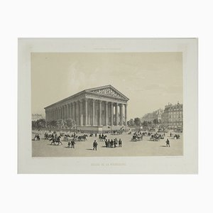 Antique French Paris in her Splendor Lithograph