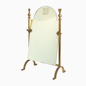 Neo-Classical Style Gild Wrought Iron Mirror, 1960s