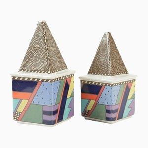 Deutsche Salz- und Pfefferstreuer aus Keramik von Rosenthal, 1980er, 2er Set