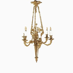 19th-Century Louis XVI Style Gilt Bronze Chandelier