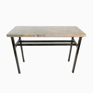 Vintage Modernist Painted Steel Console Table