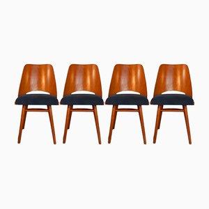 Esszimmerstühle aus Buchenholz von František Jirák für Tatra, 1960er, 4er Set