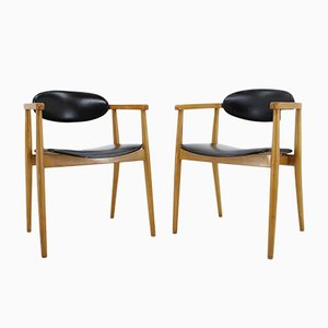Mid-Century Danish Wooden Dining Chairs, 1969, Set of 2