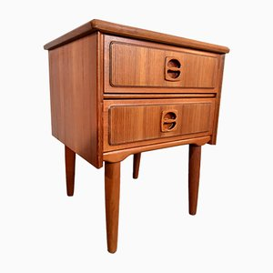 Mid-Century Danish Teak 2-Drawer Nightstand, 1960s