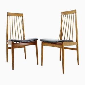 Sedie da pranzo Mid-Century in legno, Danimarca, 1969, set di 2