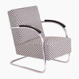 Art Deco Tubular Steel Cantilever Armchair from Mücke Melder, 1930s