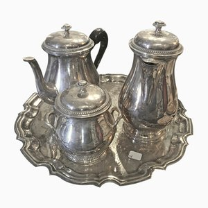 Antique French Silver-Plated Tableware Set from Medard