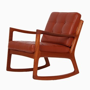 Model Senator Danish Rocking Chair by Ole Wanscher for France & Søn, 1960s