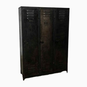 Industrial French Metal Locker from Ateliers Schwartz-Hautmont, 1920s