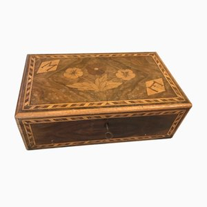 Antique French Cherry Inlaid Glove Box
