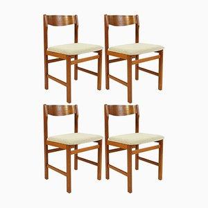 Esszimmerstühle aus Teak von Keravan Puusepät, 1960er, Set of 4